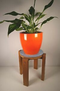 Vintage Wooden Small Table Plant Pot Stand + Formica reversible top Mid Century