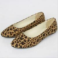 Boat shoes leopard women's shoes flat-shoes large size 43 ladys casual loafers
