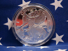 2015 Goddess Nike 1 Troy Oz .999 Solid Silver Round Coin + Capsule BUPRL Lot A1