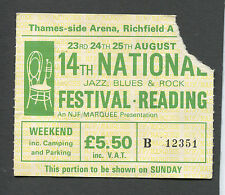 1974 Reading Festival Traffic Thin Lizzy 10cc Concert Ticket Stub Steve Winwood