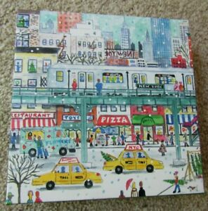 """Michael Storrings NEW YORK CITY SUBWAY 500pc Puzzle 20"""" x 20"""" COMPLETE Pre-Owned"""