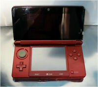 NINTENDO 3DS CTR-001(USA) Red Handheld Console, FOR PARTS - Broken Charging Port