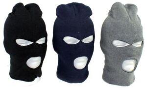 3 hole mask Fitted Balaclava Polar Fleece Motorcycle Ski Face Mask Beanie Hood