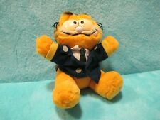 RARE 1981 Dakin Garfield - Airplane Pilot Suit & Tie - Soft Plush Stuffed Toy 6""