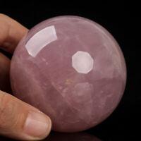 379g 65mm Large Natural Pink Rose Quartz Crystal Sphere Healing Ball Chakra