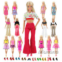 10 Different Style Fashion Handmade Clothes/Outfit Sets+10 Shoes For Barbie Doll