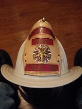 Cairns & Brother Honorary Chief Local 788 Fireman Fire Dept Helmet Leather Badge