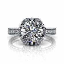 0.80ct 14k White Gold Princess Cut Diamond Engagement Ring