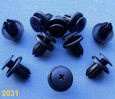(2031 A) 10x Verkleidung Clips Befestigung Klips Halter schwarz