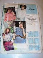 WOMENS UNCUT SEWING STEP BY STEP Pattern BUTTON FRONT BLOUSE SHIRT SIZE 4-22