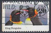 USA Briefmarke gestempelt 29c King Penguins Königspinguin Tier / 1070