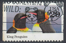 USA Briefmarke gestempelt 29c King Penguins Königspinguin Tier / 1070