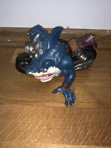 Street Sharks Rip Rider Ripster Vintage 90s Mattel Bike Action Figure RARE