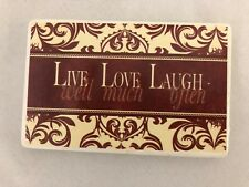 "Red White 2 3/4 X 4"" Magnet Sign: Live Love Laugh"