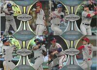 2019 Topps Chrome Baseball - GREATNESS RETURNS - Pick n Choose Your Cards!