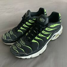 Nike Air Max Plus GS Black Volt Neon Green Size 5Y 655020-086 Youth