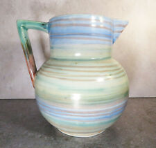 VINTAGE ART DECO JUG BY SHORER, SIGNED MABEL LEIGH 1930s
