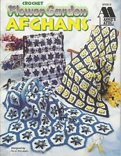 Flower Garden Afghans Carol Alexander Crochet Quilt Annie's Attic Patterns NEW