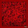 ELENPRIV red silk roses printed headscarf for Fashion Royalty FR2 similar dolls