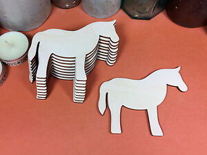 WOODEN HORSE  Shapes 10cm (x10) laser cut wood cutouts crafts blank shape
