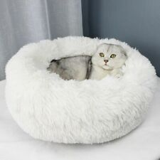 Round Pet Bed Washable Toiletry Kits Long Plush Dogs Cats Super Soft Cotton Gift
