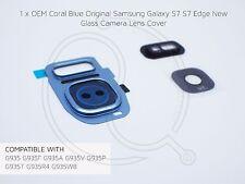 Coral Azul Oem Samsung Galaxy S7 S7 cristal de borde reemplazo de la cubierta de lente de cámara