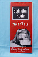 Burlington Route - Time Table, May-Oct., 1959