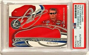 2004 Press Pass Dale Earnhardt Jr Race Used Car Cover Signed Auto Card PSA/DNA