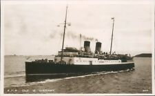 Postcard Shipping ferry S.S Isle Of Guernsey Real Photo unposted