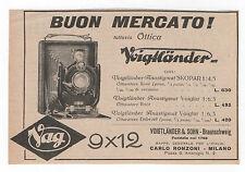 Pubblicità 1927 VOIGTLANDER 9x12 FOTO PHOTO old advert werbung publicitè reklame