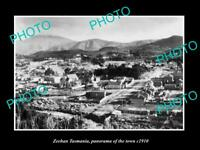OLD POSTCARD SIZE PHOTO OF ZEEHAN TASMANIA PANORAMA OF THE TOWN c1910 2