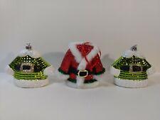 Set Of 3 Santa & Elf Coats Christmas Tree Ornament Decoration ch1630