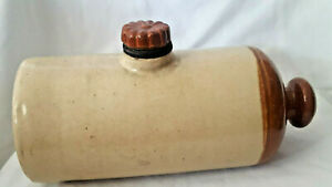 Vintage Pottery Bed Warmer Gray Porto Bello Stoneware Foot Warmer Antique