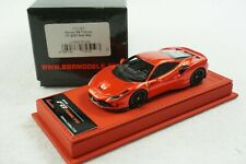 1/43 BBR FERRARI F8 TRIBUTO F1 RED METALLIC DELUXE RED LEATHER LE 35 PCS MR