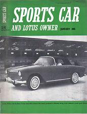 Sports CAR + LOTUS proprietario 1/61 FIAT 600 ABARTH 1000 Innes Ireland JIM CLARK +