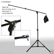 Portable Collapse Combo Boom & Light Stand Wheels Background Support 00281