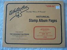 "1996 WHITE ACE STAMP ALBUM SUPPLEMENT "" USR-26 "" USA REGULAR ISSUE SINGLES"