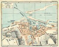 14 Honfleur 1925 pt. plan ville + guide (4 p.) chantiers constr. Côte de Grâce