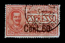 Italy 1922 /  Red Express Stamp /  Over Printed 60 Cent.   / Used