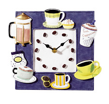 Pendule murale de cuisine, thé, café, boissons chaudes - ATLANTA 478 - Neuve