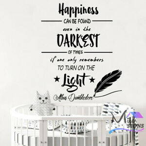Happiness Dumbledore Harry Potter  Wal Decal Sticker Kids Room Boys Girls