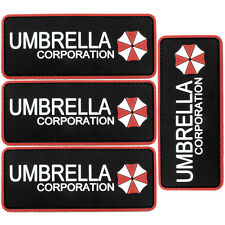 4x Umbrella Corp Red PVC Morale Patch 3D Tactical Badge Hook #01 Airsoft
