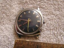 Vintage Timex Electric Watch Yellow Second Hand