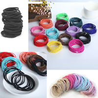 10 Pcs Women Girl Elastic Hair Ties Band Ropes Ring Ponytail Holder Accessories