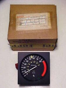 Ferrari Mondial 8 Speedometer Gauge_Veglia_MPH KM_117167_Wiring Harness_NEW_OEM