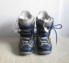 Burton Ytk Freestyle Jr. Kids Youth Snowboard Boots Size Usa 4 Gray Blue Yellow