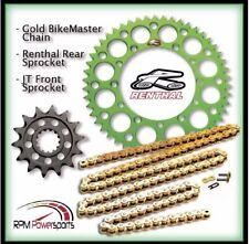 Renthal Green Sprocket and Gold Chain Kit Kawasaki Kx250f Kx 250f 06-17 13-50T