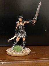 Warrior Princess—28mm Painted Miniature—pathfinder Dungeons & Dragons