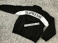 SUPREME ARC TRACK JACKET L  FW17 LARGE 2017 BOX LOGO BLACK WHITE LIMITED EDITION