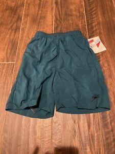 NWT Boys Speedo Swim Trunks Bathing Suit Green Size Medium